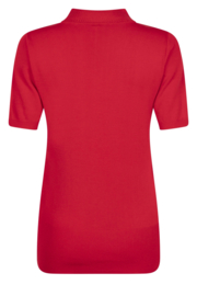 luxury knit short sleeve pull red   205Marnix