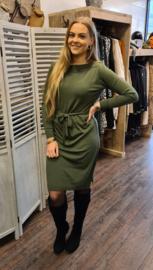 Luxury knitted boatneck dress groen 204 Soraya