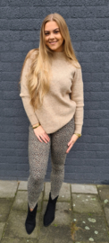 Pull Axelle chiné camel