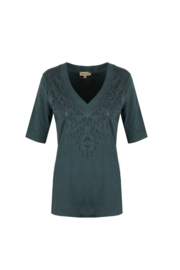 T-shirt Flora donkergroen
