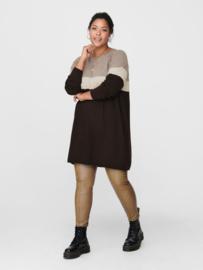 sweaterdress donkerbruin