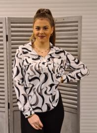 Splendour printed blouse   211 Judith   multi/off white