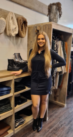 sporty cupro dress zwart  205Lisa