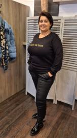 Kaji Sweater zwart/goud