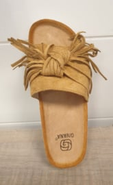 ibiza slipper camel