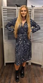 Spendour printed dress  204Kim Navy