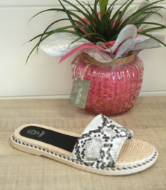 Suedine band slipper snake