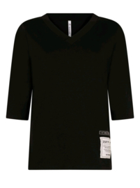 T-shirt with patches   211 Christa  black