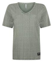 Allover print t-shirt  green stonewhite  202Marvel