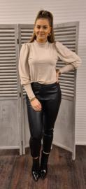 PU leatherlook broek zwart