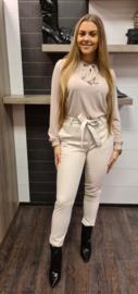 blouse beige strik