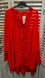 blouse chiffon froezel rood