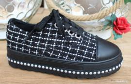 sneakers zwart studs