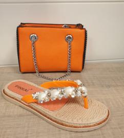Schelp slipper oranje