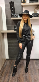 blouse zwart strik