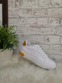 Sneaker wit met geel