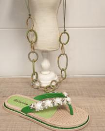Schelp slipper groen