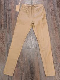 leatherlook broek beige