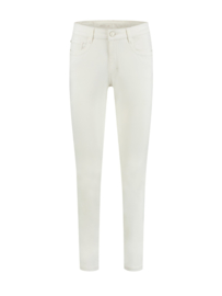 Meya (embroidery) color denim off white