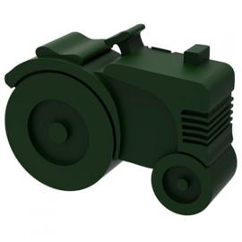 Donkergroene tractorlunchbox van blafre