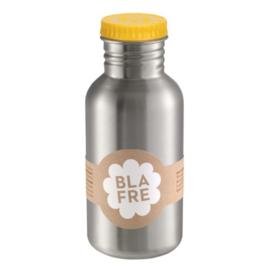 Blafre, rvs retro fles met gele dop 500 ml