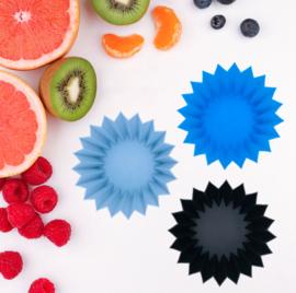 Silicone bakjes, blauw