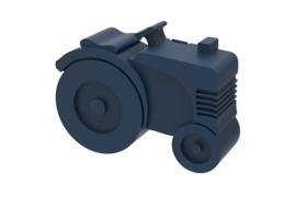 Donkerblauwe Tractor broodtrommel van blafre