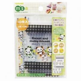 Mini zipperzakjes panda