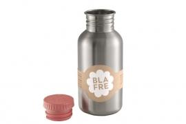 Blafre, rvs retro fles met roze dop, 500ml