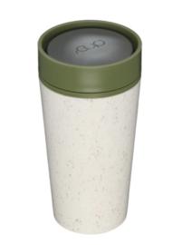 Beker rCup, crème met groen, groot