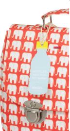 Retro schooltas met olifantjes