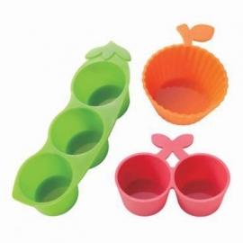 silicone bakjes groente en fruit