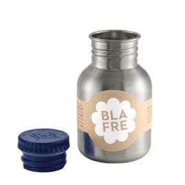 Blafre, rvs retro fles met blauwe dop, 300 ml.