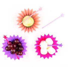 Silicone bakjes, rose