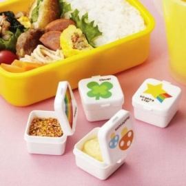 minibakjes vierkant, met verschillende opdruk