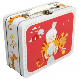 Koffertje met circusdame