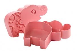 roze olifanten lunchbox van Blafre