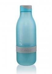 Zingo waterfles blauw met grijze band