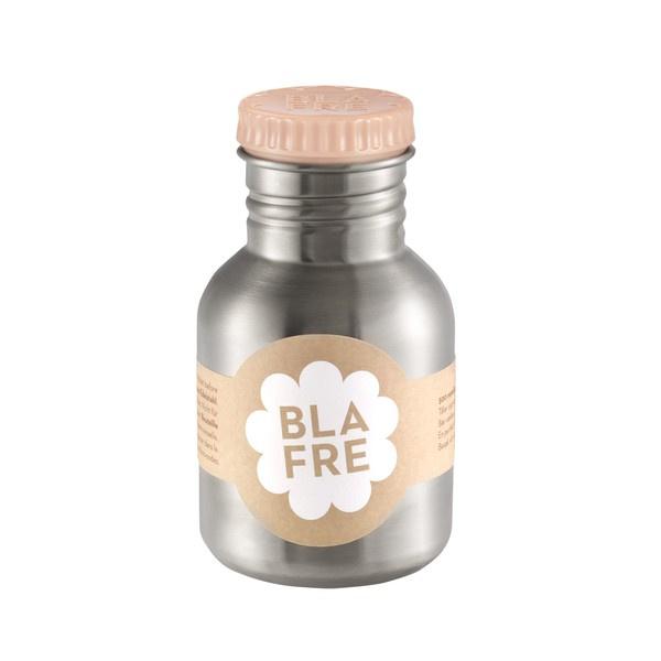 Blafre, rvs retro fles met zalmroze dop, 300 ml