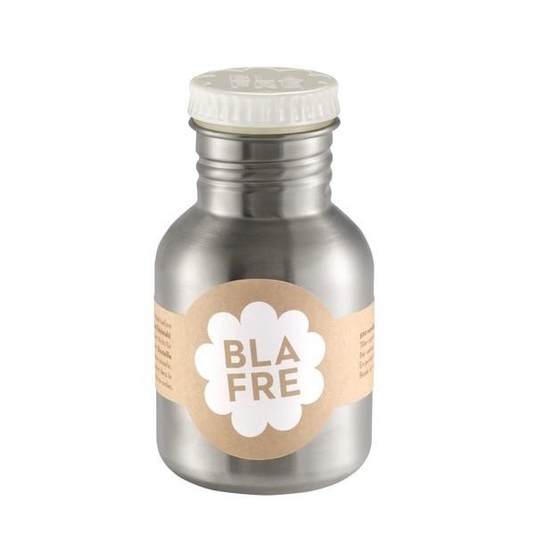 Blafre, rvs retro fles met witte dop, 300ml
