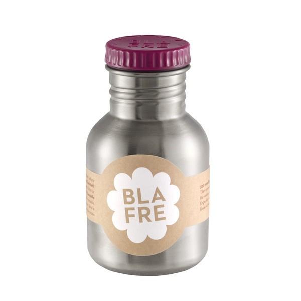 Blafre, rvs retro fles met aubergine dop, 300ml