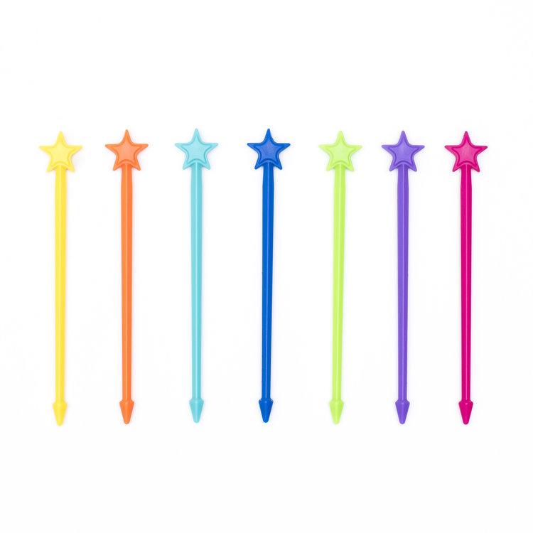 Stix, lange prikkers, regenboogkleuren