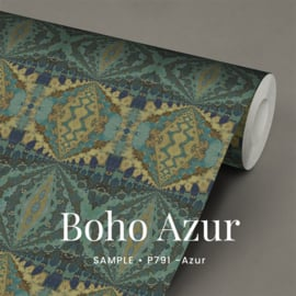 Boho Azur  / Etnisch Boheems behang