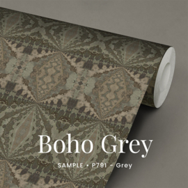 Boho Grey / Etnisch Boheems behang