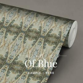 Shades of blue / Klassiek Barok behang