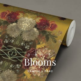 Oker Blooms / Klassiek Botanisch behang
