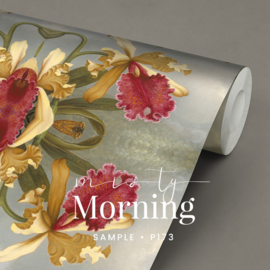Misty Morning  / Botanisch bloemen behang