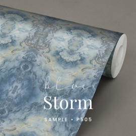 25 METERS WALLPAPER ON THE ROLL / Blue Storm