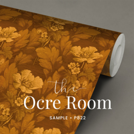 The ocre room / Bloemen behang