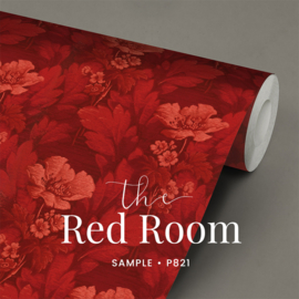 The red room / Bloemen behang